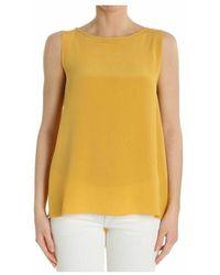 Ottod'Ame Women's Ginet86341504o Silk Top - Oranje