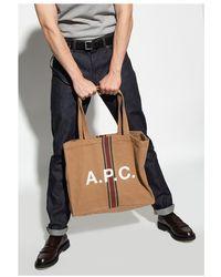 A.P.C. Lou shopper bag Marrón