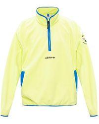 adidas Originals Fleece Sweatshirt With Logo - Groen