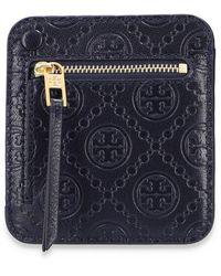Tory Burch Monogram wallet Azul