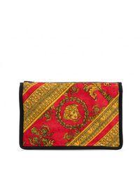 Versace Wash Bag With Medusa Head - Rood
