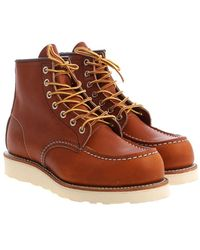 Red Wing Red Wing Boot Leather 875 Classic Moc Toe Oro Legacy - Bruin