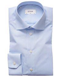 Eton Signature Slim Shirt - Bleu