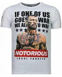 Giuseppe Zanotti Conor Mcgregor - Rhinestone T-shirt - Wit