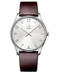 Calvin Klein Classic Watch - Grijs