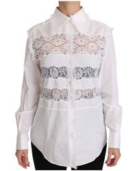 Dolce & Gabbana Poplin Overhemd Met Inzet - Wit