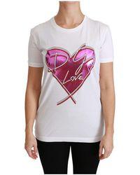 Dolce & Gabbana Love Heart Top T-shirt - Wit