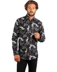 Gabbiano Overhemd Pattern - Zwart