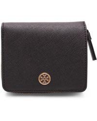 Tory Burch Robinson Leather Wallet - Noir