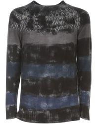 Avant Toi Scandinavian-type Round Neck Pullover - Blauw