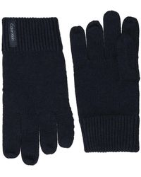 Calvin Klein K50k504098 Basic Gloves Gloves Men Blue - Blauw