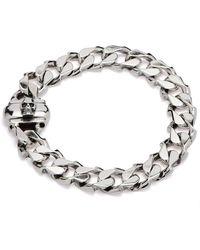 Emanuele Bicocchi Cuban Chain Bracelet - Grijs