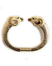 Kenneth Jay Lane Vintage Bracelet en or Zodiac - Orange
