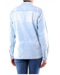 Haikure Hew06018Df075 Denim Shirt - Blu