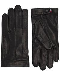 Tommy Hilfiger Gloves Logo Embossed - Zwart