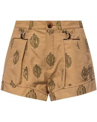 Chloé Embroidered Shorts - Bruin