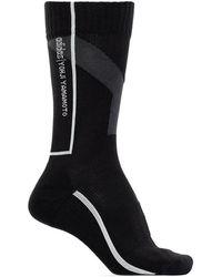 Y-3 Socks With Logo - Zwart