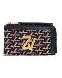 Zadig & Voltaire Porta carte di credito con logo - Nero