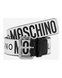 Moschino Cinturon Piel Multilogo - Wit