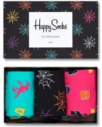 Happy Socks 3-pack Giftbox Xhal08-9000 - Zwart