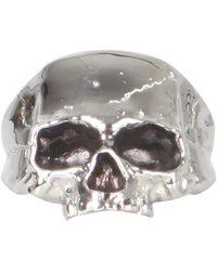 Northskull Disfigured skull ring - Gris