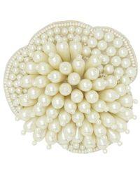 Custommade• Ziva Pearl Flower Broche - Wit