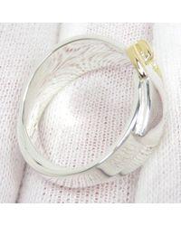 Hermès 18K Double Buckle Ring Metal Gris