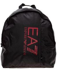 EA7 Men's Nylon Rucksack Backpack Travel - Zwart