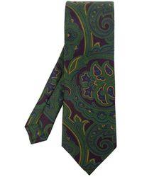 Etro Silk Tie - Groen