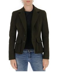 DSquared² Classic fitted blazer - Vert