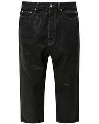 Rick Owens Jeans Du02a3357bf - Zwart
