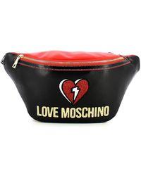Love Moschino Marsupio Patch - Nero