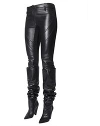 Alberta Ferretti Leather Trousers Negro