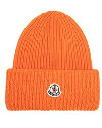 Moncler Hat With Logo - Oranje
