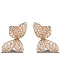 Pasquale Bruni 18kt rose gold Giardini Segreti diamond stud earrings - Blanc