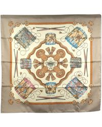 Hermès Les Tambours Silk Scarf Fabric Silk - Meerkleurig
