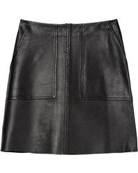 Marc O'polo Leather Mini Skirt - Zwart