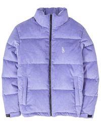 LIFE SUX Puffer Corduroy Jacket - Pink