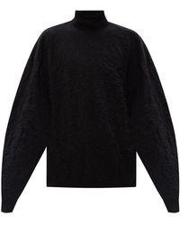 Balenciaga Turtleneck Sweater - Zwart
