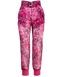 Mr & Mrs Italy Blossom Camouflage Pants - Rosa
