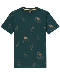 Kultivate T-shirt R-n Flamingo - Zwart