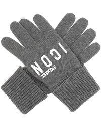 DSquared² Wool Gloves - Grijs