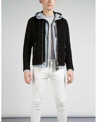 J.Lindeberg Jacket Trey 72 Suede Negro