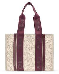 Chloé Woody Shopper Bag - Naturel