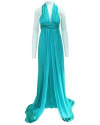 Hermès Robe longue traine - État d'occasion Excellent - Bleu