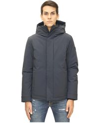 Woolrich Parka Stretch Pacific Hooded - Blauw
