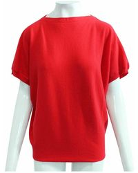 Hermès Top de cachemira seminuevo Rojo