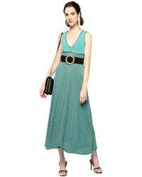 Pinko Thira Dress Women Verde - Groen