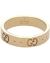 Gucci Icon Ring Metal 18k - Geel
