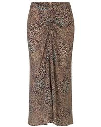 Munthe Papaya Skirt Marrón